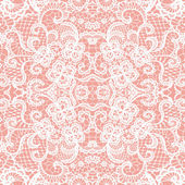 Lace seamless pattern with flowers — Stock Vector