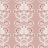 Lace white seamless mesh pattern — Stock Vector