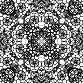 Wzór koronki czarne kwiaty — Wektor stockowy