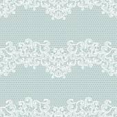 White lacy vintage elegant trim — Stock Vector
