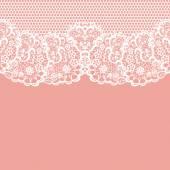 White lace on texture — Stok Vektör