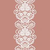 White lacy vintage elegant trim — Vettoriale Stock