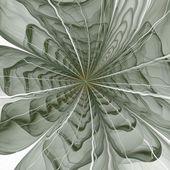 Flor simétrica fractal verde, obras de arte digital — Fotografia Stock