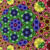 Abstract symmetrical yellow hexagon fractal  mosaic — Stock Photo