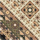 Abstract Symmetrical fractal Geometry Seamless  Pattern  — Stock Photo