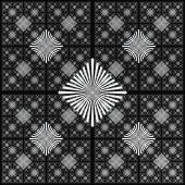 Abstract black and white geometric pattern seamless, arabesque style — Stock Photo