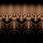 Symmetrical fractal flower, digital artwork for creative graphic — Stock Photo #61715823