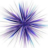 Symmetriska fraktal abstrakta ljus strålar effekt neon konst — Stockfoto