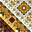 Abstract Symmetrical fractal square colorful Pattern  — Stock Photo #68202195
