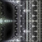 Colorful fractal clockwork, abstract gears digital artwork — Foto Stock