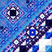 Abstract Symmetrical fractal square colorful Pattern  — Stock Photo