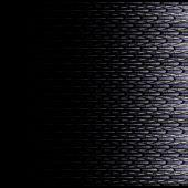 Symmetrical black fractal flower, digital logarithm — Стоковое фото