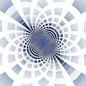 Ilustração de mosaico de pixel quadrado fractal abstrato azul — Fotografia Stock