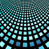 Abstract fractal blue square pixel mosaic illustration — Stok fotoğraf