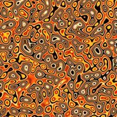Abstract fractal red and yellow distorted background — Stock Photo
