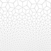 Illustration de grille fractale or pixel hexagonale de nid d'abeilles — Photo