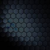 Plaster miodu fraktal złoty pixel hex siatki ilustracja — Zdjęcie stockowe