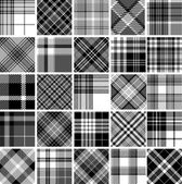 Set of  tartan patterns — Stock Vector