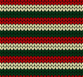 X-mas seamless knitted pattern — Stock Vector