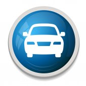 Blue Car Icon — Stock Vector