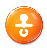 Round nipple icon — Stock Vector