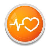 ícone de coração redondo — Vetor de Stock