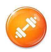 Orange  Dumbbell icon — Stok Vektör