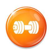 Orange  Dumbbell icon — Stock Vector