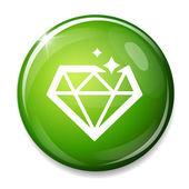 Diamond symbol icon — Stockvektor
