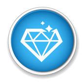 Diamond symbol icon — Stock Vector