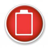 Ikona nabíjení baterie — Stock vektor
