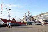 渔船停泊在港口 — 图库照片