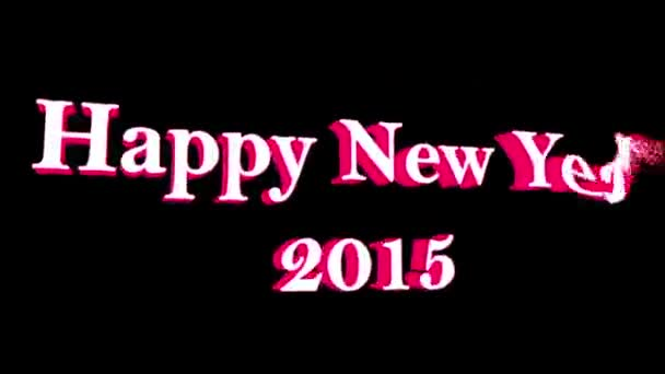 Happy New Year 2015, Particles — Vidéo