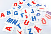 Learning alphabet letters close-up — Stock Photo