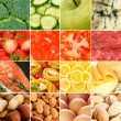 Collection of healthy fresh food backgrounds — Stock Photo #52092501