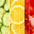 Collection of healthy fresh food backgrounds — Stock Photo #52092571