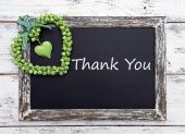 Thank you written on chalkboard, close-up — Stock Photo