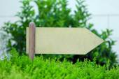 Wooden sign at park — Stock Photo