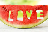 Fresh slice of watermelon, close up — Stock Photo