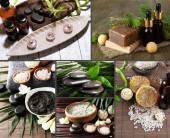 Spa setting collage — Stock Photo