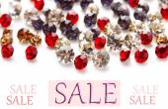 Concept of discount. Beautiful gem stones — Stock Photo