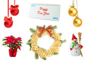 Christmas and New Year decoration collection — Foto Stock