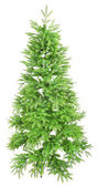 Artificial fir tree isolated on white — Stock Photo