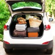 Suitcases and bags in trunk — Stock Photo #52339951