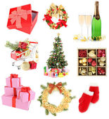 Christmas and New Year decoration collection — Stock Photo