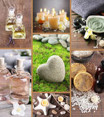 Spa setting collage — Stock Photo