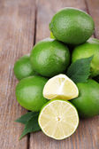 Fresh juicy limes — Stock Photo
