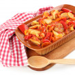 Vegetable ragout isolated on white — Stock Photo #52340835