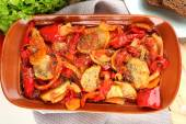 Vegetable ragout on table, close-up — Stock fotografie