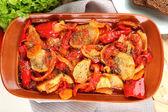 Vegetable ragout on table, close-up — Foto de Stock